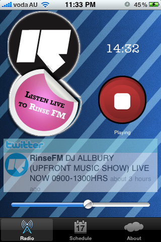 RinseFM iPhone App
